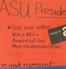 ASU candidate's poster vandalized