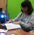 Sewing rebellion uses recycled materials