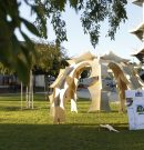 Architecture students construct living environments for sleep over